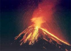 A volcano in Costa Rica