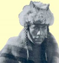 A Cree man wearing a fur hat