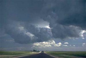 Cumulonimbus clouds: big and dark
