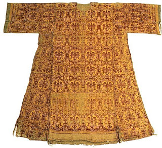 This dress of imported silk belonged to Matilda.