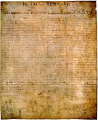 graphic relating to Printable Declaration of Independence Pdf identify Declaration of Freedom (simplified) - United Claims
