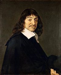 René Descartes: a white man with a sharp expression and a wide white collar