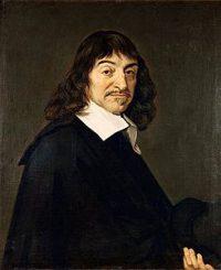 René Descartes: a white man with a sharp expression and a wide white collar