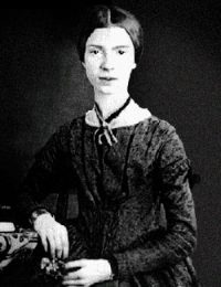 Emily Dickinson - a white woman in a dark dress looking serious