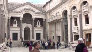 The Roman emperor Diocletian's palace at Split, in Croatia. 200s AD