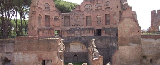 Bath building of Domitian's palace
