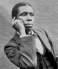 Paul Dunbar: a young black man in a suit
