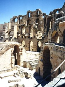 El Jem amphitheater in Tunisia, in north Africa