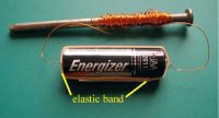 Build your own electromagnet with a nail, some copper wire, and a battery
