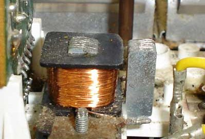 An electromagnet from inside a stereo speaker