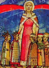 Elizabeth ofPolandand her sons