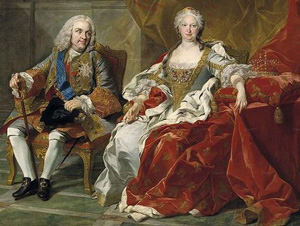 Elizabeth Farnese with her husband Philip V (1743)