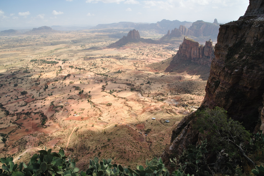 The view from the top of the Gheralta massif in Ethiopia.