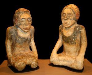 Cherokee statues from Etowah (now northern Georgia)