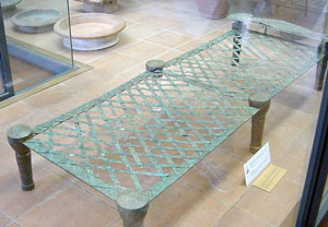 Etruscan bed-frame (in the Vatican Museum, Rome)