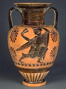 Etruscan black figure pottery from about 510 BC (Louvre)