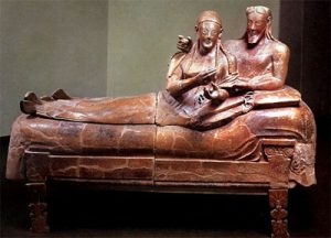 Etruscan sarcophagus (like a coffin) fora husband and wife (ca. 520 BC)