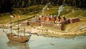 The Dutch settlement at Fort Orange(modern Albany) in 1624