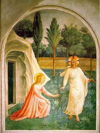 Mary Magdalene and Jesus by Fra Angelico (Louvre Museum)