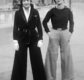 French women wearing pants (Paris, 1922)