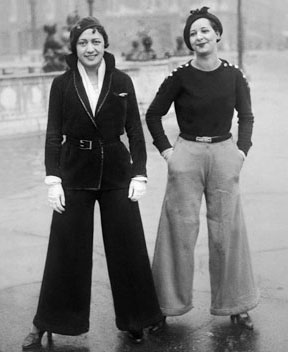 French women wearing pants (Paris, 1922)