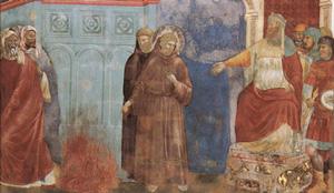 Francis meets Malik al-Kamil (also Giotto)