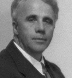 Robert Frost: a middle-aged white man in a suit