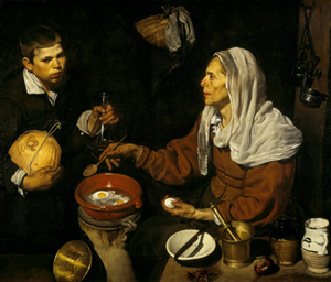 """Woman frying eggs"", Velazquez"