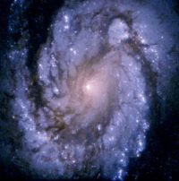 The galaxy M 100, seen through the Hubble telescope