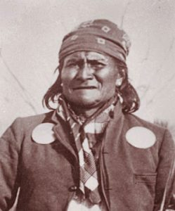 The Apache leader Geronimo