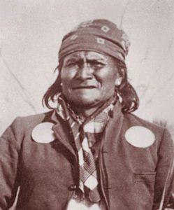 The Apache leader Geronimo