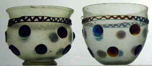 Drinking glasses from ancient Rome