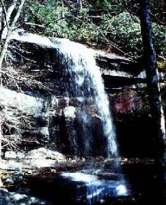 A waterfall in what is now the south-eastern United States