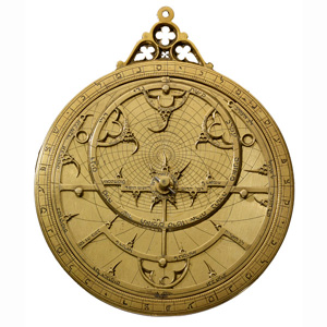 Astrolabe in Hebrew, probably from Spain (1300s AD)