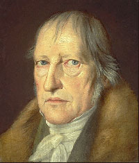 Hegel - an older white man with thin, lank gray hair