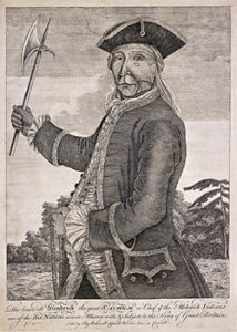 Hendrick, an Iroquois leader, in 1740 AD