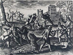 Protestants kill Catholics in France (Hubert, about 1607)