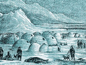 An Inuit village in 1575 AD