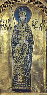 Empress Irene (from the Pala d'Oro in Venice, looted from Constantinople by the Fourth Crusade)