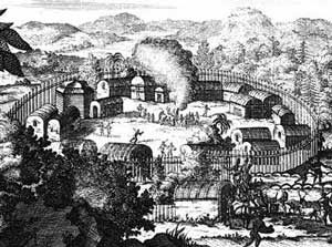 An Iroquois village in the 1720s