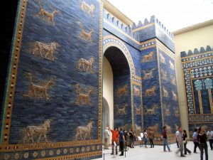 The Ishtar Gate of ancient Babylon, built during the Neo-Babylonian period (600s BC). Now in Berlin.