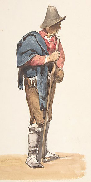 Italian peasant, about 1850 (by Pierre Louis Dubourcq)