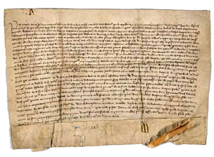 The treaty that Queen Jadwiga and Duke Jogaila signed in 1385 AD