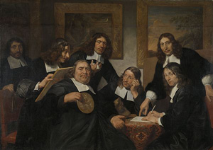Members of the painters' guild in Haarlem (1670s)