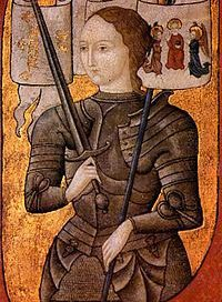 Joan of Arc (painted about fifty years after she was killed)