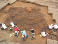 Excavation of a house at Joara