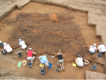 Excavation of a house at Joara