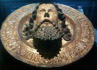 John the Baptist's head on a platter (Cluny museum, Paris)