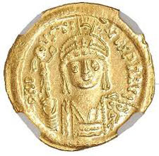 Justin II (on a gold coin)