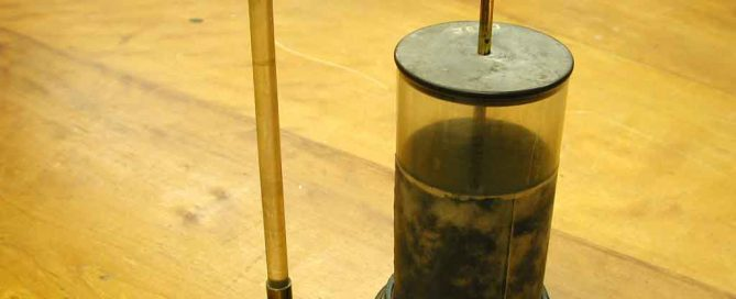 A Leyden Jar - an early kind of electric battery